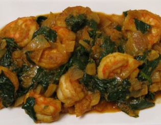 palak shrimp